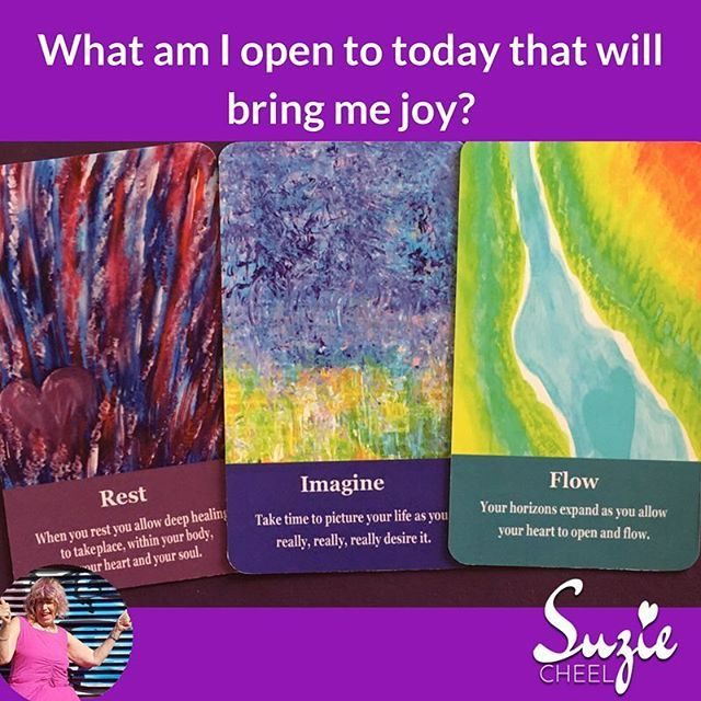 What am I open to today that will bring me joy?  This is the journal prompt I meditated on before I drew the cards.  Then out came REST- not what was on my mind  Then I understood as the next card I turned over was IMAGINE  Imagine your life as you truly desire it and then it will  FLOW  This was perfect as I have been reading Let The Universe Lead You that my friend Harmoni recommended and the author Richard Dotts would say this is perfect.  Let it flow stop trying!  Do you know the…