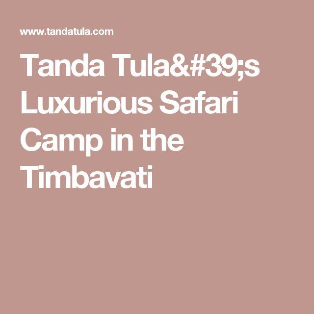 Tanda Tula's Luxurious Safari Camp in the Timbavati
