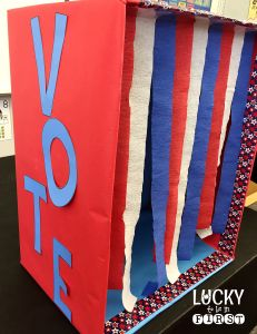 Election Activities in the Classroom! Make a voting booth for your students to cast their ballots!
