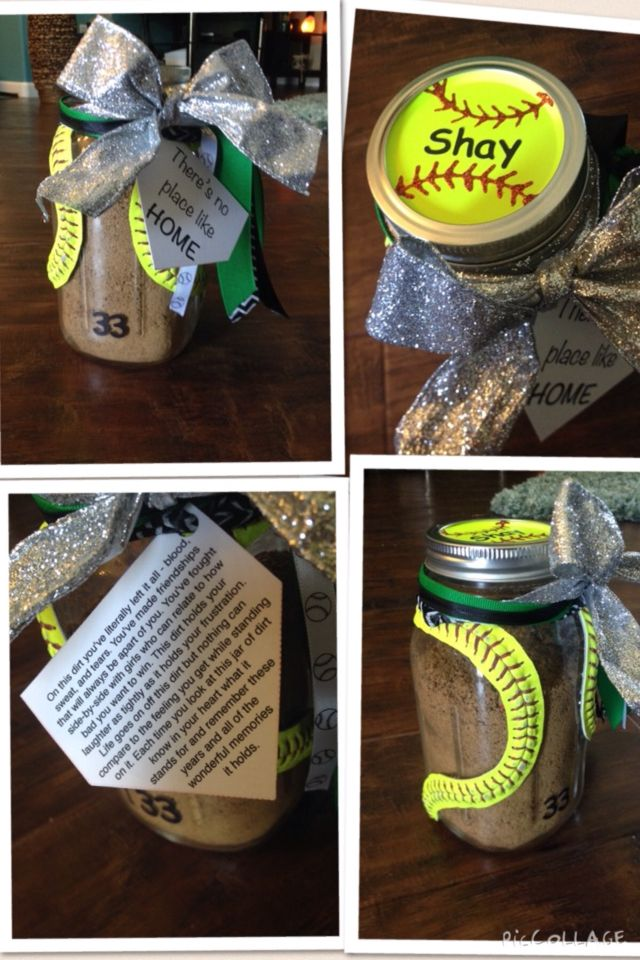 "Omg! I am so doing this for my girls!!!! Softball ""Jar of Dirt"".. Made with a mason jar!"