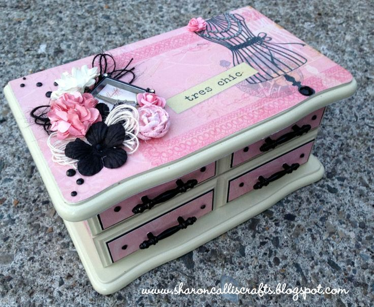 Sharon Callis Crafts Xyron and DCWV re-conditioned Jewelry Box