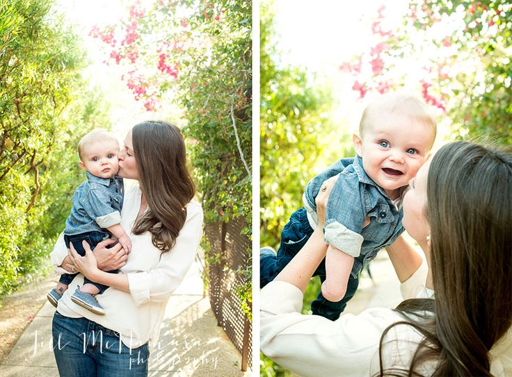 Baby and mom outdoor photo session posing ideas, Four Seasons photo session. Little Huck | Scottsdale Family Photographer