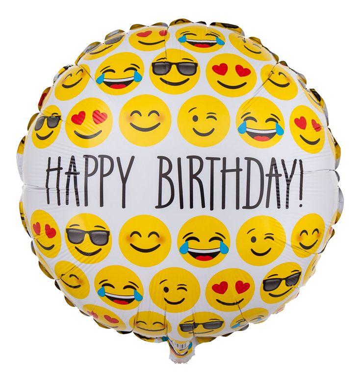"""Jemandem mit dem Emoji Ballon """"Smileys - Happy Birthday!"""" zum Geburtstag gratulieren."""
