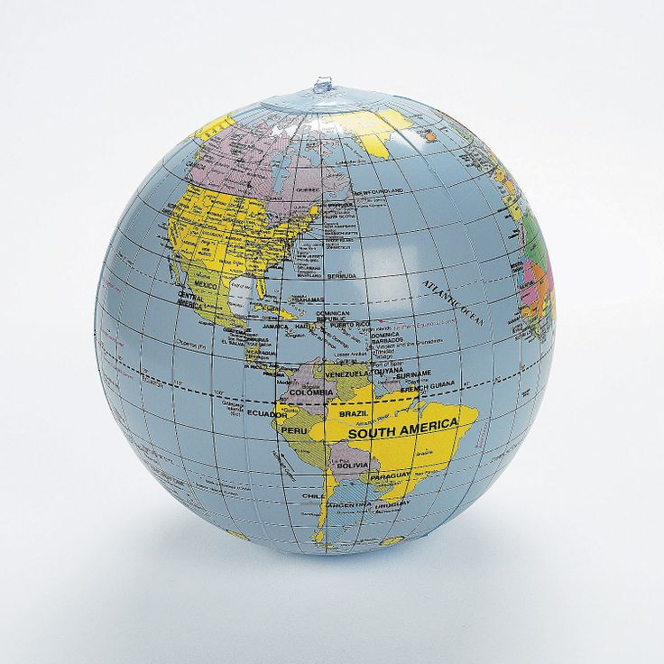 Who needs a beach ball when you can have Inflatable World Globes - OrientalTrading.com