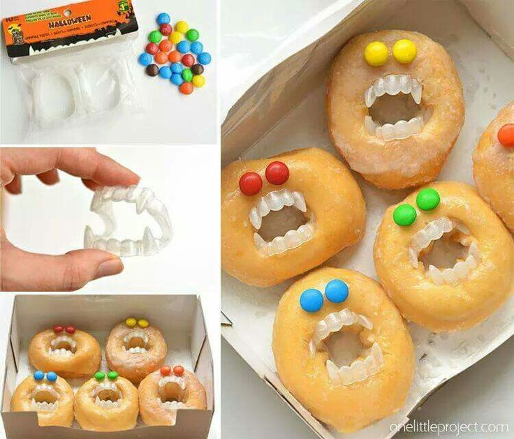 HALLOWEEN MONSTER DONUTS http://onelittleproject.com/halloween-monster-donuts/