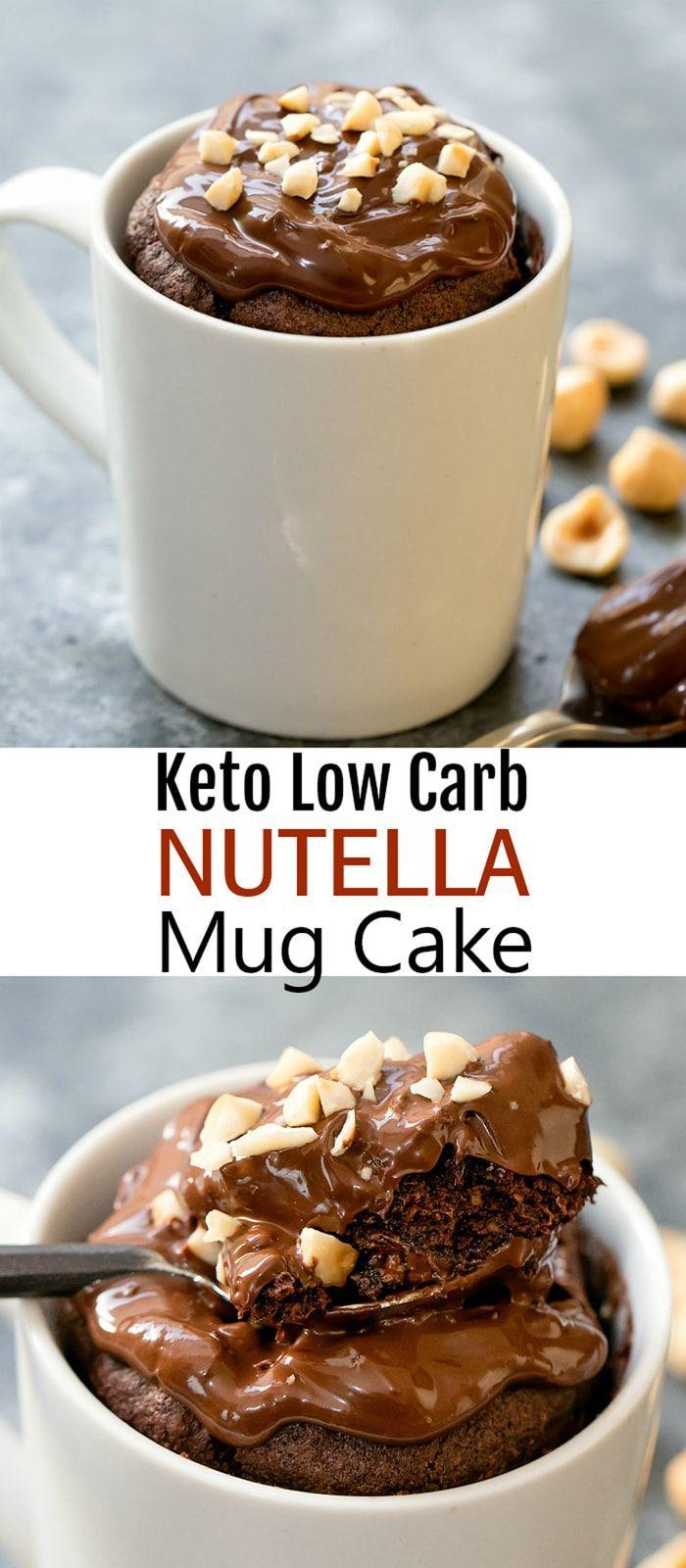 Keto Nutella Mug Cake | Recipe | Nutella mug cake, Mug ...