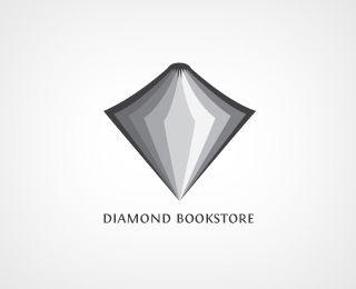 Diamond Bookstore - Open book as diamond