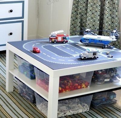 Bekijk de foto van jowo met als titel Leuke lego tafel...(gezien op pinterest)  Tafeltje van Ikea. en andere inspirerende plaatjes op Welke.nl.