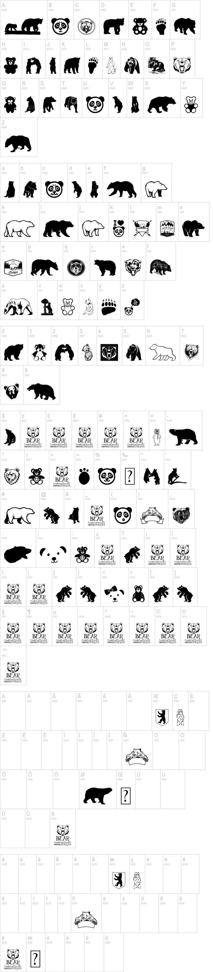 Bear Icons