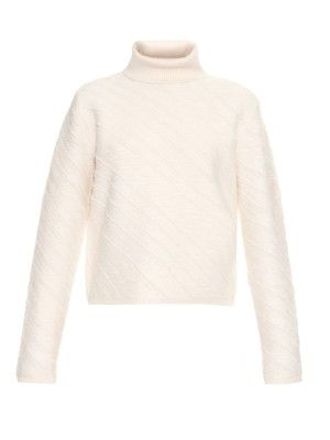 Asymmetric-striped roll-neck sweater   | Proenza Schouler | MATCHESFASHION.COM
