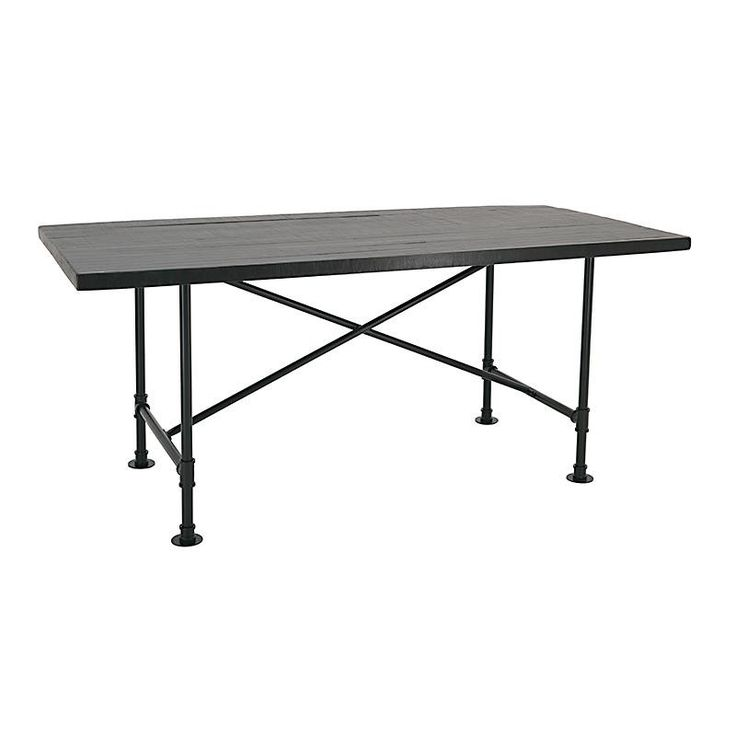 WOODEN/METAL DINING TABLE IN BROWN COLOR 170X78X75 - Dinner Tables - FURNITURE