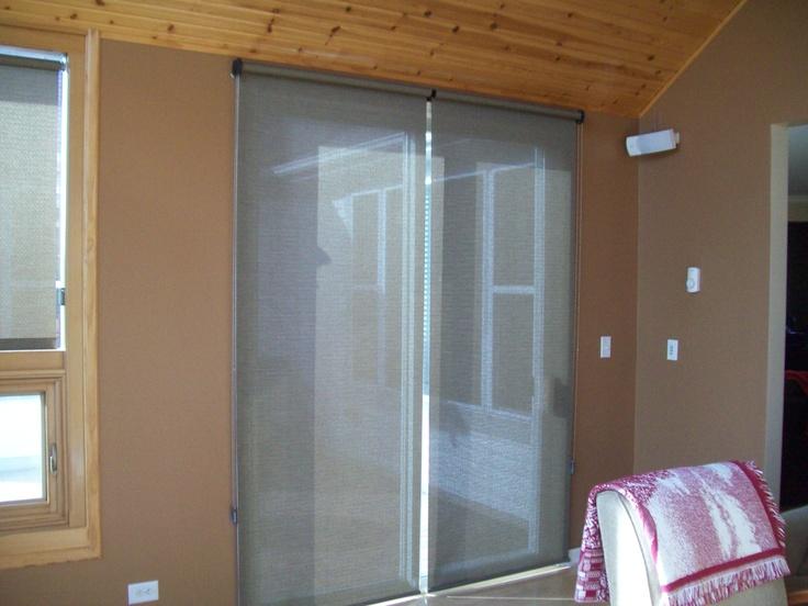 Roller Shades On A Patio Door | Sliding Glass Door Window ...