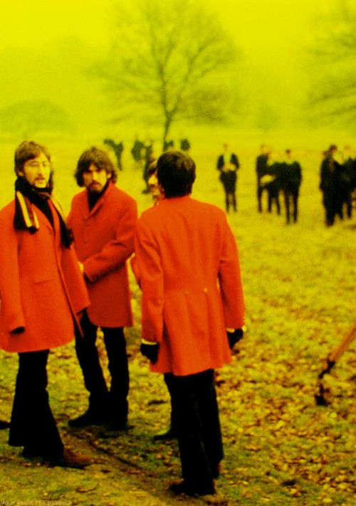 The Beatles filming Penny Lane video clip, MMT, 1967