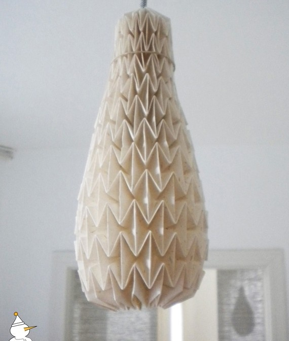 24 best lampshades folding images on pinterest good ideas night items similar to rice paper origami lampshade size m on etsy mozeypictures Image collections