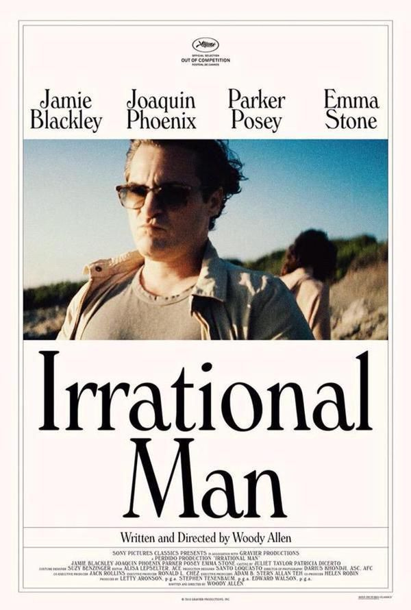 Irrational Man by Woody Allen. Poster. Out of Competition.