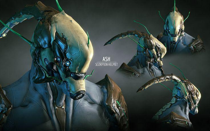 Warframe character helmets