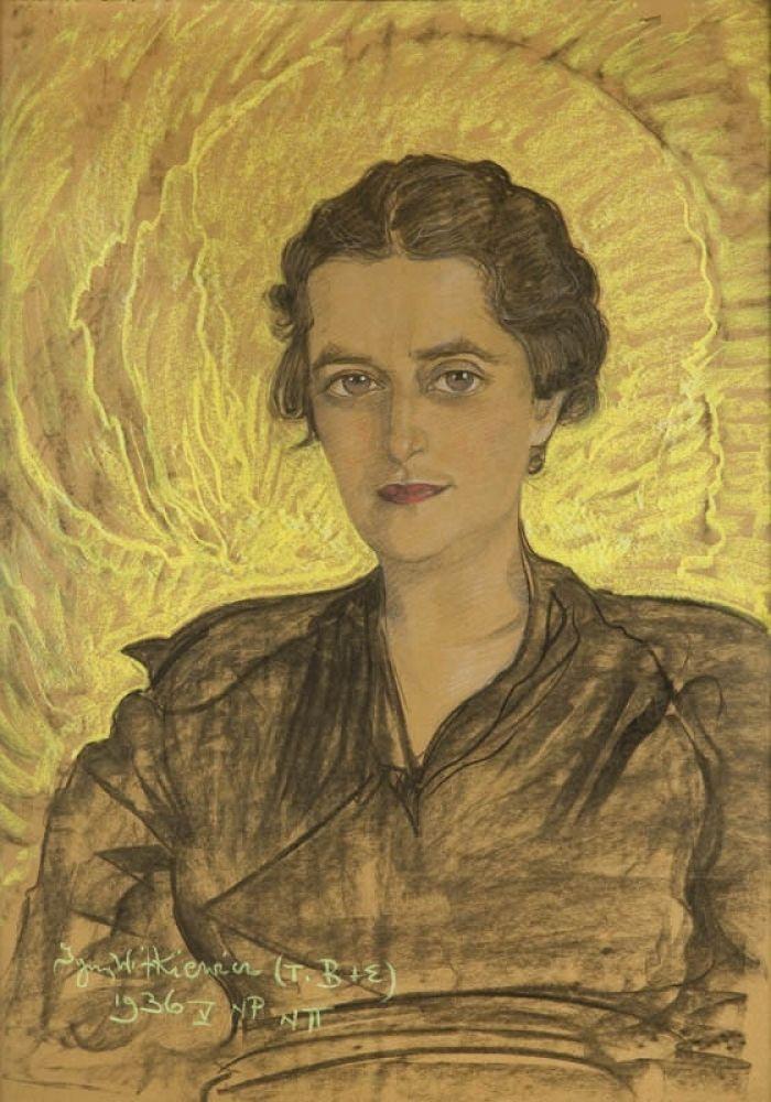 Stanisław Ignacy Witkiewicz (Witkacy) - Portret Michaliny Filippi, 1936 r.