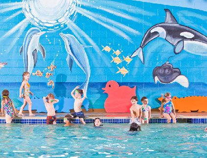 Goldfish Swim School in Dublin - parties only available on Saturdays. Call for details.