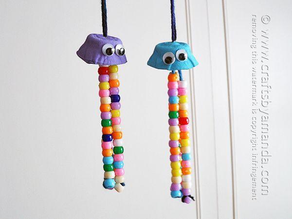 Egg Carton Crafts: Colorful Jellyfish