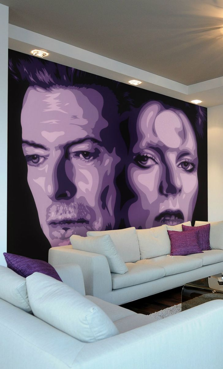 20 best movies music and celebrity wall murals images on bowie wall mural