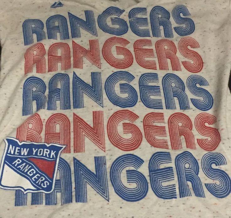 New York Rangers NHL Women's Medium Short Sleeve Tee T-Shirt #Majestic #NewYorkRangers