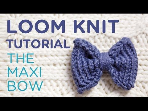 How to make a loom knitted bow - YouTube