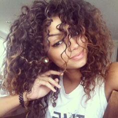 pretty mixed girls with curly hair tumblr - Google Search