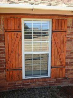 Diy Outdoor Window Shutters