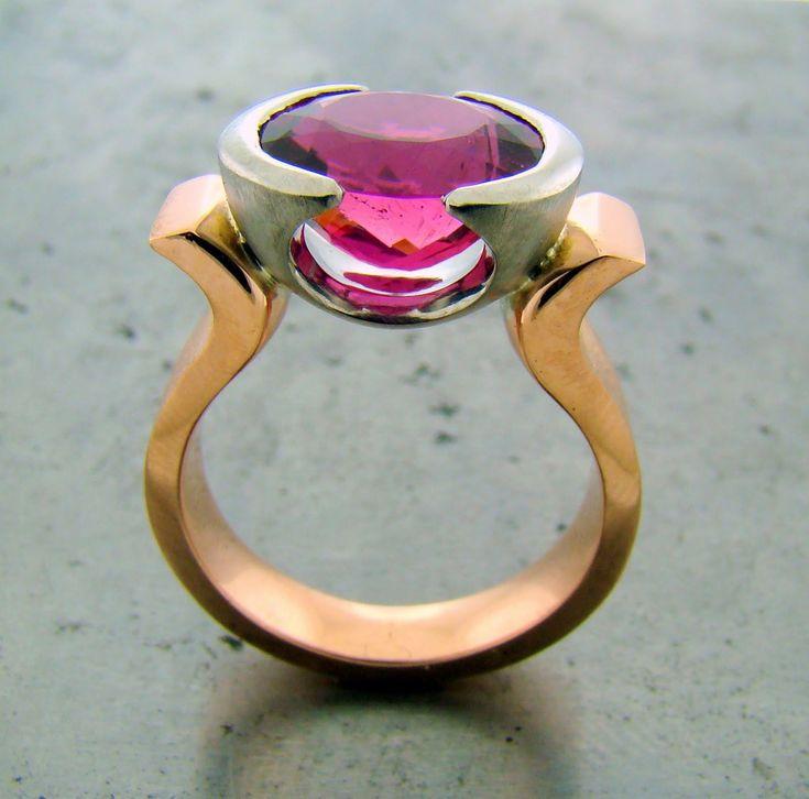 Custom Made Pink Tourmaline Ring