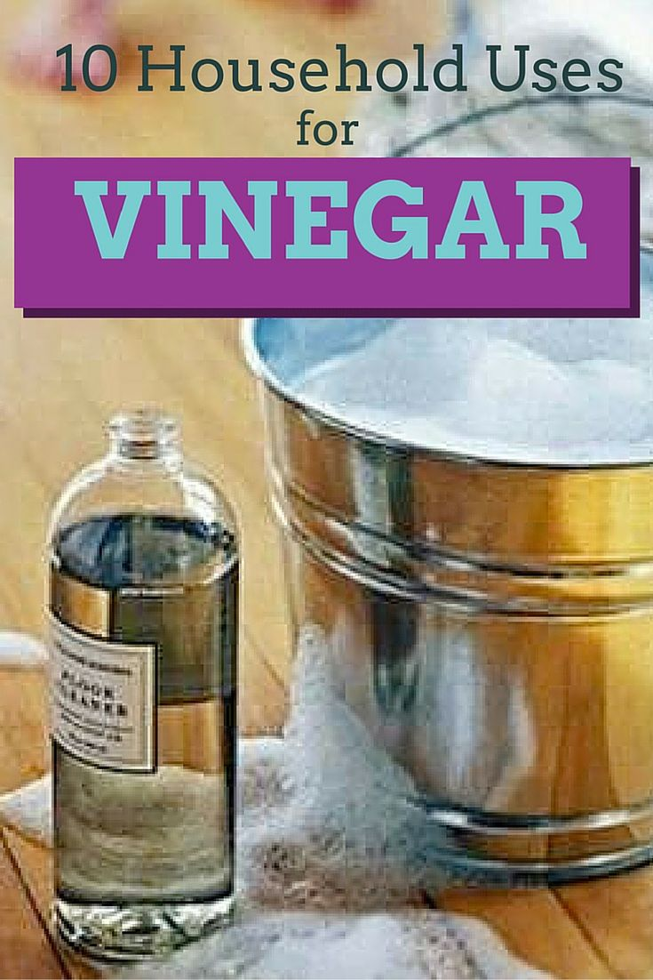 Vinegar can unclog your drains and get your shower doors sparkling clean. Check our list of amazing household uses for vinegar.