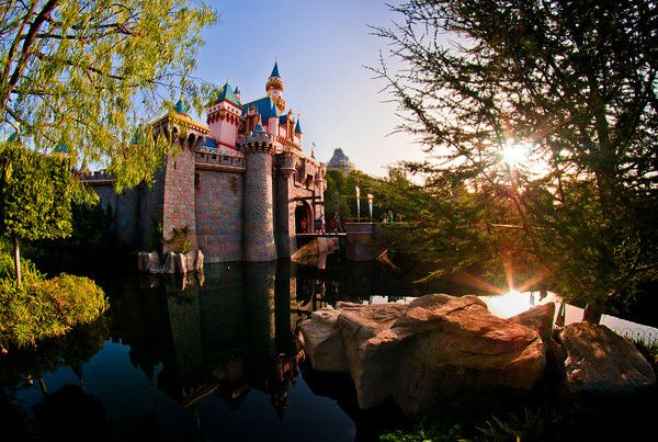 The sunrise over Sleeping Beauty Castle at Disneyland on Leap Day 2012. http://www.disneytouristblog.com/what-to-pack-for-disney/