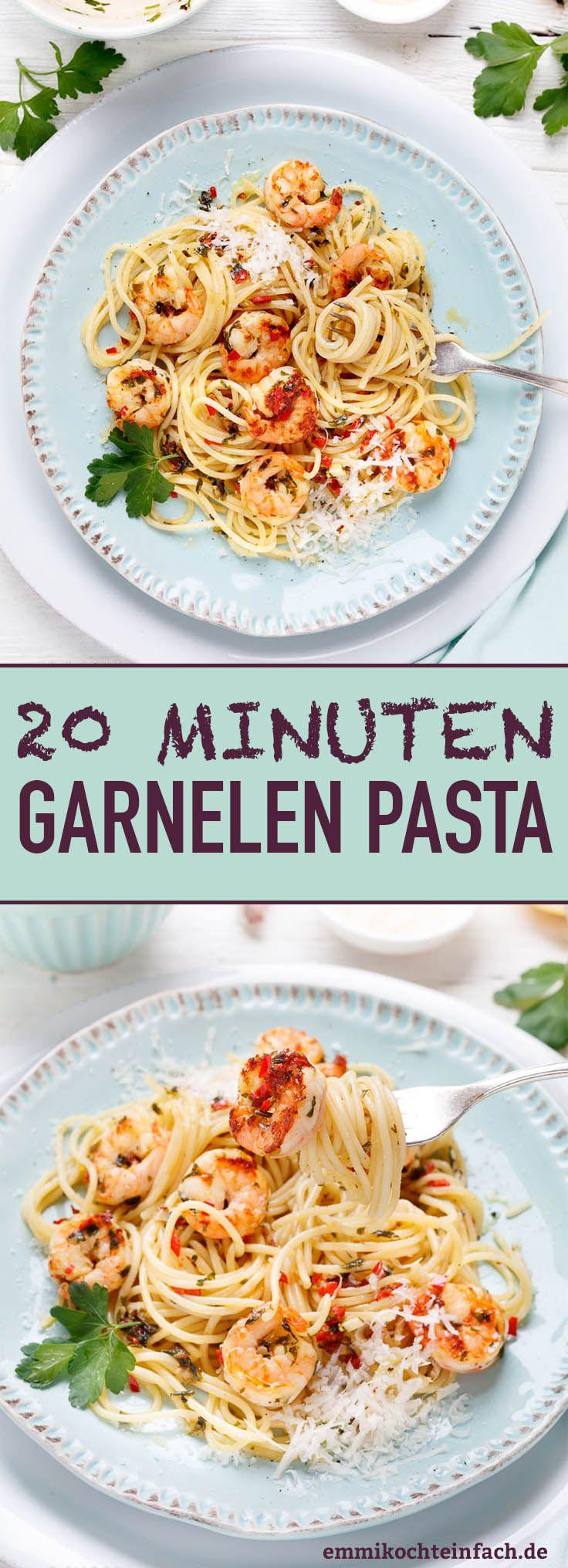 Quick shrimp pasta – in 20 minutes on the table   – emmikochteinfach – Der Food-Blog mit einfachen Rezepten, die gelingen