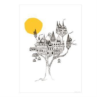Postern Another birdsnest kommer från Mini Empire är designad av Jenny von Döbeln. Det är ett alternativt hem, inspirerat av stora träd, kojor och vacker arkitektur.