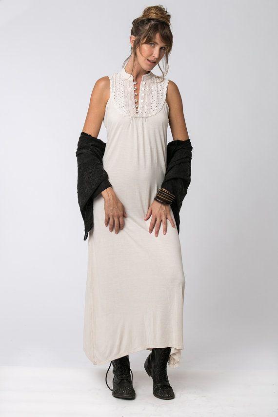 Aus Frauen Kleid Boho Chic Kleidung weißen Kleid von Hanamer