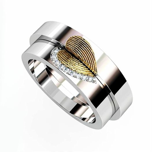 Wedding rings with your fingerprints… what could be more romantic?