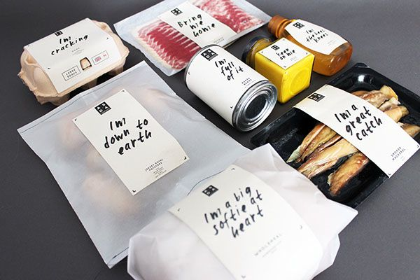 Brilliantly Minimalist, Endearing Product Labels That Feature Witty Food Puns - DesignTAXI.com
