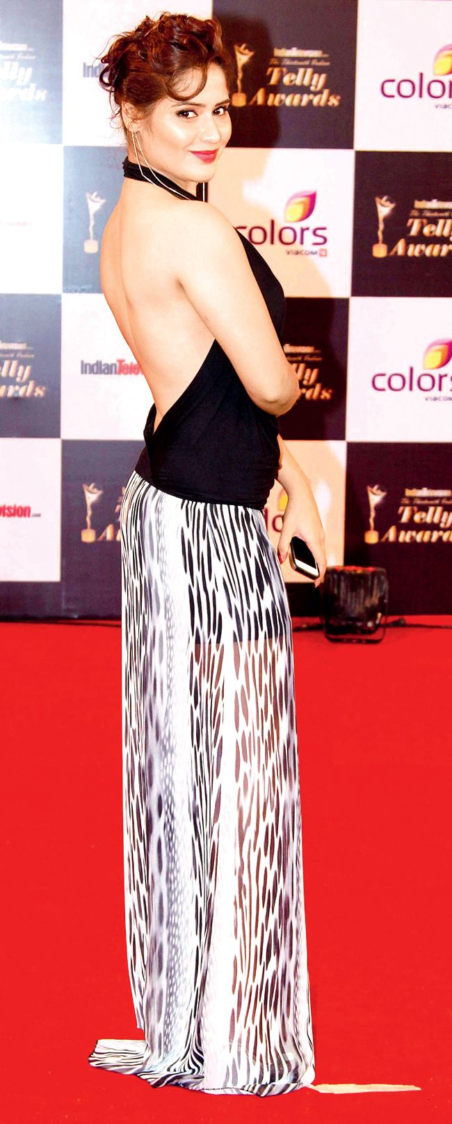 Aarti Singh on the red carpet of 13th Indian Telly Awards.