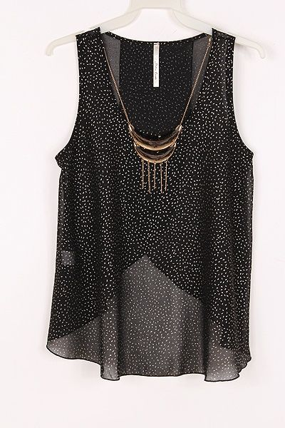 nice top for hot evenings out and about.