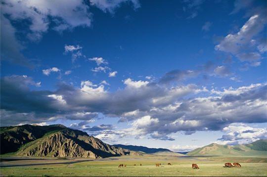 Les grands espaces en Mongolie