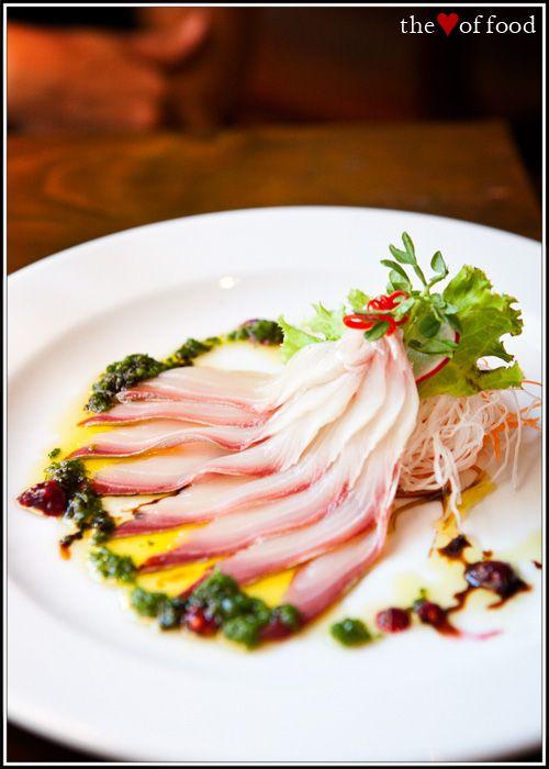 Kingfish Sashimi with Shallot, Umeboshi & Tamari Dressing