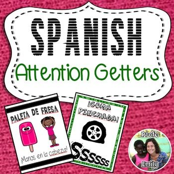 These Spanish call-and-response attention grabbers for quieting a noisy classroom are simple rhymes to get your students' attention quickly and easily. Great for bilingual or dual-language classes and also for foreign language classes trying to stay in the target language!