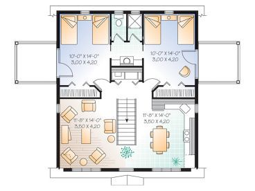2 bed 1 5 bath split bedroom 2 bay garage apartment plan for 2 bedroom 2 bath garage apartment plans