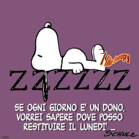 Snoopy, giorno, lunedì