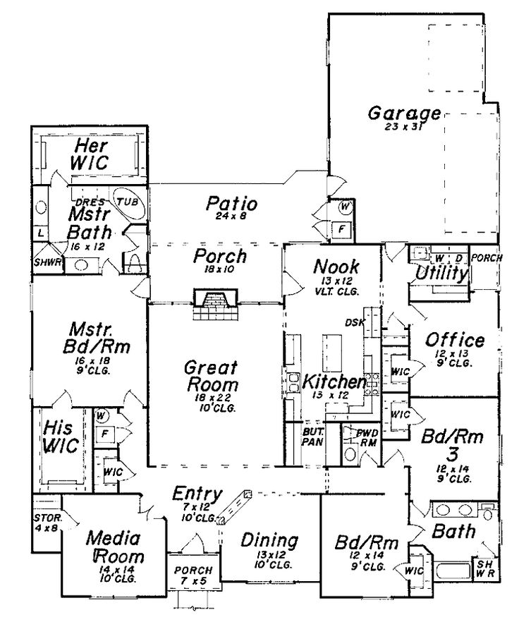 Best 25 new house plans ideas on pinterest retirement for One story retirement house plans