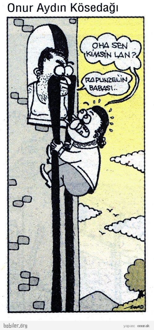 - Oha sen kimsin lan? + Rapunzel'in babası... #karikatür #mizah #matrak #komik #espri