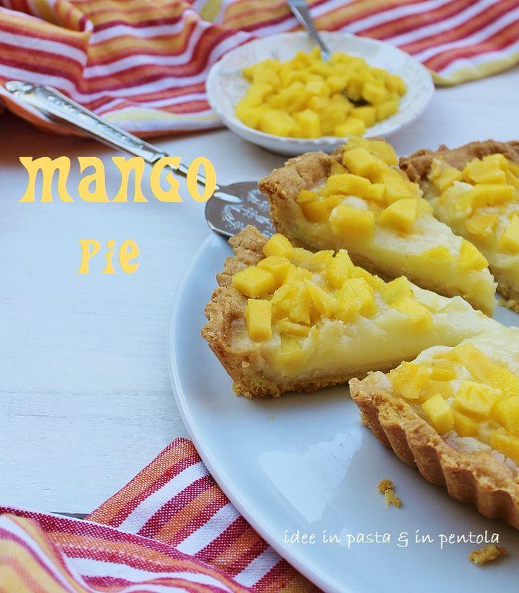 Crostata con Crema di Mango all'acqua   Idee in pasta & in pentola