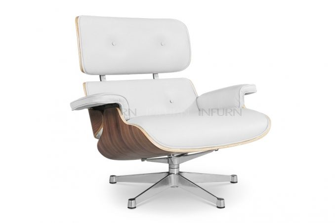 Charles Eames Lounge Chair white edition