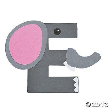 """E Is For Elephant"" Letter E Craft Kit"