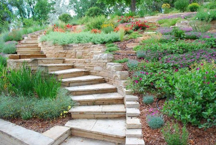 escalier jardin extérieur | aménagement-extérieur-escalier-dalles