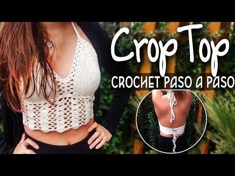 getlinkyoutube.com-Top Crop - Tejido en crochet Paso a Paso